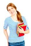 Bello studente con sorridere dei libri Immagine Stock Libera da Diritti