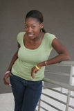 Bello studente universitario dell'afroamericano Fotografia Stock