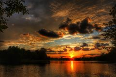 Bello sunset3 Fotografia Stock