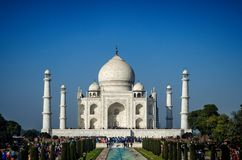 Bello Taj Mahal a Agra immagini stock