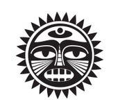 Bello tatuaggio polinesiano di stile Immagini Stock