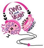 Bello telefono capo rosa royalty illustrazione gratis