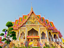 Bello tempiale dorato tailandese Fotografia Stock