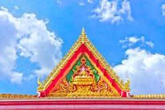 Bello tempiale tailandese dorato Fotografie Stock