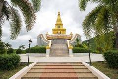 Bello tempio alla provincia di Nong Bua Lamphu, Tailandia Immagini Stock