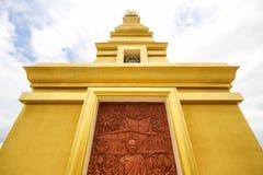 Bello tempio alla provincia di Nong Bua Lamphu, Tailandia Immagini Stock Libere da Diritti