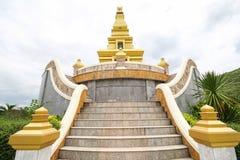 Bello tempio alla provincia di Nong Bua Lamphu, Tailandia Immagine Stock Libera da Diritti
