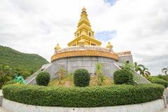 Bello tempio alla provincia di Nong Bua Lamphu, Tailandia Fotografie Stock Libere da Diritti