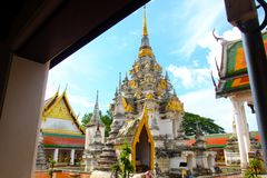 bello tempio in chaiya del sud Surat Thani del prathat del wat della Tailandia Fotografia Stock Libera da Diritti