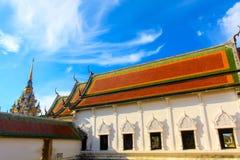 Bello tempio della costruzione di architettura in Tailandia del sud Fotografie Stock Libere da Diritti