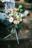 Bello tempo di nozze Fotografie Stock Libere da Diritti