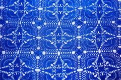 Bello tessuto blu scuro del fondo Immagini Stock Libere da Diritti