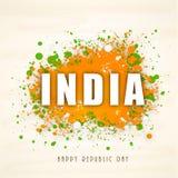 Bello testo per la celebrazione indiana di giorno della Repubblica Immagini Stock
