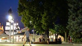 Bello timelapse della città di notte stock footage