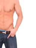 Bello torso maschio muscolare Fotografia Stock