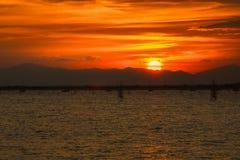Bello tramonto Fotografie Stock