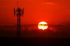 Bello tramonto immagini stock