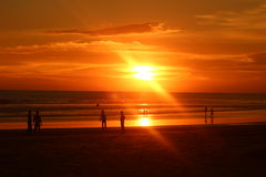Bello tramonto Fotografia Stock