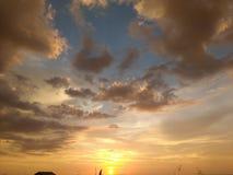 Bello tramonto! Fotografia Stock