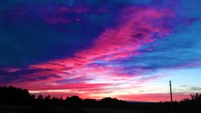 Bello tramonto 2014 Fotografie Stock