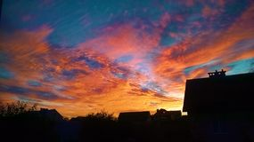Bello tramonto 2015 Fotografie Stock