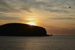 Bello tramonto alle Isole Baleari immagine stock