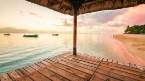 Bello tramonto alle Mauritius Fotografie Stock