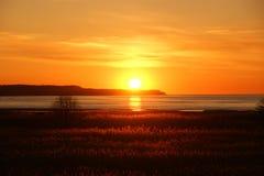 Bello tramonto arancio Immagine Stock Libera da Diritti