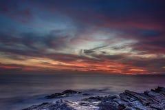 Bello tramonto calmo Fotografie Stock Libere da Diritti