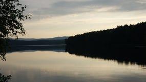 Bello tramonto, calmo Immagine Stock