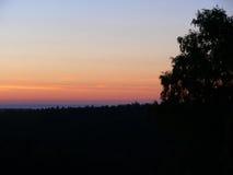 Bello tramonto con la vista wounderful del paesaggio Immagine Stock Libera da Diritti
