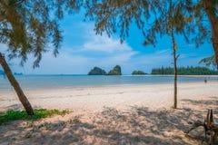 Bello tramonto d'oltremare alla Tailandia Fotografie Stock Libere da Diritti