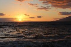 Bello tramonto dell'oceano Fotografia Stock Libera da Diritti