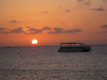 Bello tramonto dell'oceano Fotografia Stock