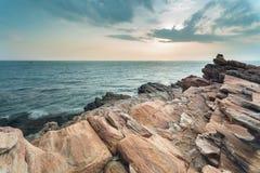 bello tramonto della siluetta Immagine Stock Libera da Diritti