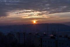 Bello tramonto di autunno Immagini Stock Libere da Diritti