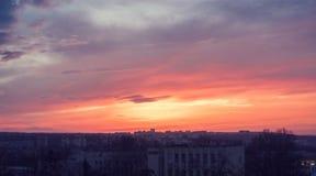 Bello tramonto di estate immagini stock libere da diritti