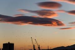 Bello tramonto di Malaga Immagine Stock Libera da Diritti