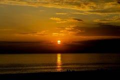 Bello tramonto di sera Immagine Stock