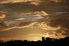 Bello tramonto e cielo Immagine Stock