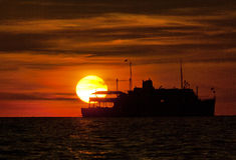 Bello tramonto e cielo Fotografia Stock Libera da Diritti