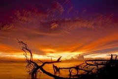 Bello tramonto e cielo Immagine Stock Libera da Diritti