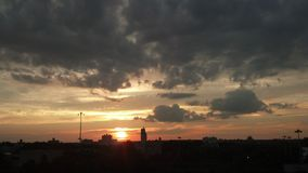 Bello tramonto impressionante NYC Immagine Stock Libera da Diritti