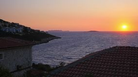 Bello tramonto in Kas, Turchia video d archivio
