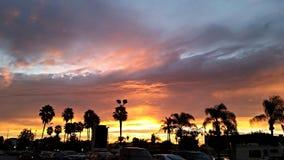Bello tramonto a Los Angeles Immagini Stock Libere da Diritti