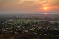 Bello tramonto a Mandalay immagine stock libera da diritti