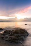 Bello tramonto nel mare Immagini Stock