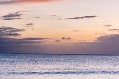 Bello tramonto nel paradiso Fotografia Stock