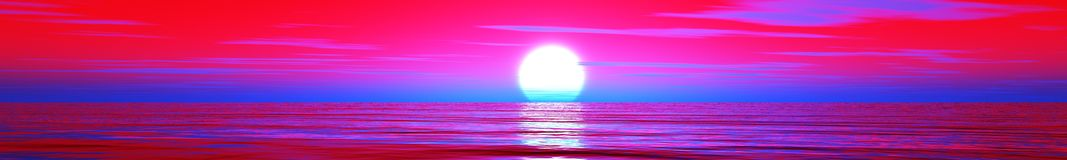 Bello tramonto nell'oceano Fotografie Stock