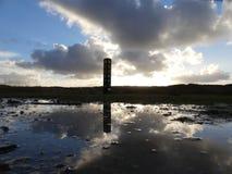 Bello tramonto nelle dune immagine stock libera da diritti